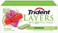 Trident Layers Watermelon + Tropical Fruit