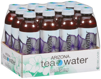 Poland Spring Yumberry Organic Green Tea Arizona Tea Water 12-20 fl. oz. Plastic Bottles
