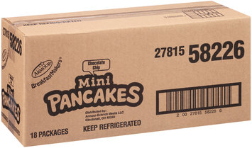 Armour® Breakfast Makers® Chocolate Chip Mini Pancakes 2.35 oz. Tray