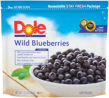 Dole Wild Blueberries 12 Oz Pouch