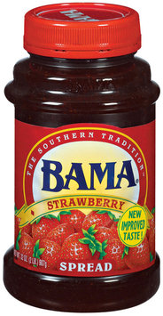 Bama Spreads Strawberry, Modified 6/2/07 Spread 32 Oz Plastic Jar