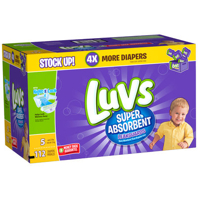 Stretch Luvs Super Absorbent Leakguards Diapers Size 5 112 Count