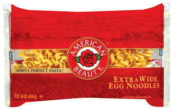 American Beauty Extra Wide Egg Noodles 16 Oz Bag