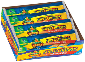 California Churros Super Strawberry Filled 2 Pack Churros 5.3 Oz Wrapper