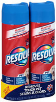Resolve® Pet High Traffic Area Carpet Foam/Easy Clean Pro Refill Large Area Carpet Cleaner 2-22 oz. Aerosol Cans