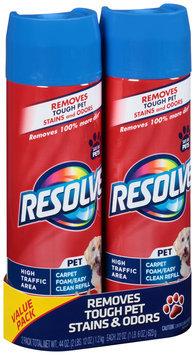 Resolve® Pet High Traffic Area Carpet Foam/Easy Clean Pro Refill Large Area Carpet Cleaner 2-22 oz. Aerosol Cans