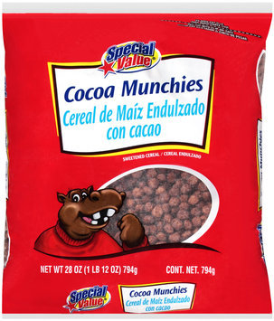 Special Value® Cocoa Munchies Sweetened Cereal 28 oz. Bag