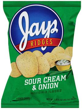Jay's Ridges® Sour Cream & Onion Potato Chips 1.875 oz. Bag