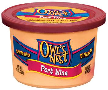 Owl's Nest Port Wine Cheese Spread 10 Oz Tub
