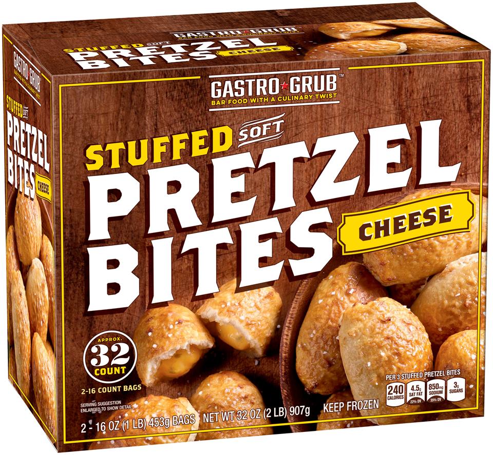 Gastro Grub™ Cheese Stuffed Soft Pretzel Bites 2-16 oz. Bags