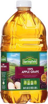 Springfield® 100% Apple Grape Juice 64 fl. oz. Bottle