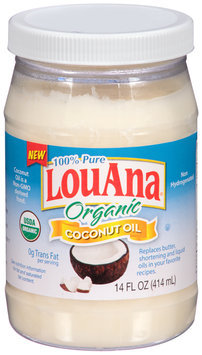 LouAna® Organic Coconut Oil 14 fl. oz. Bottle