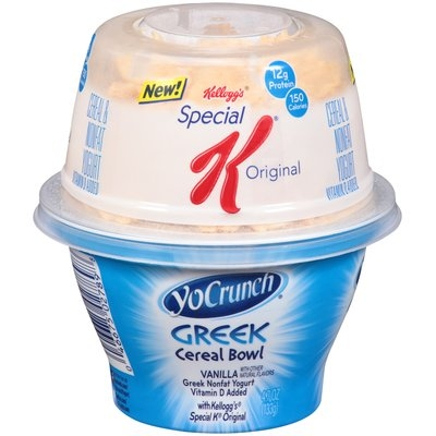 YoCrunch® Cereal Bowl Vanilla with Kellogg's® Special K® Original Greek Nonfat Yogurt 4.7 oz. Cup