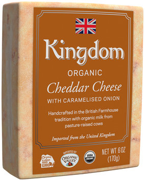 Kingdom Organic Cheddar Cheese with Caramelised Onion 6 oz. Loaf