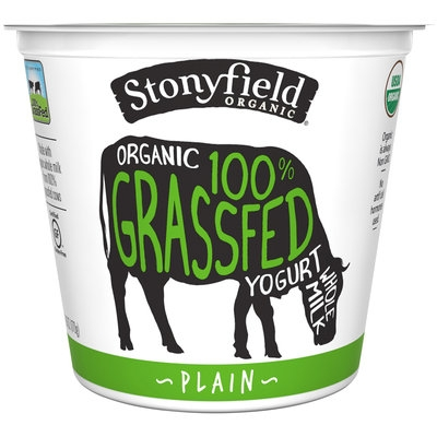 Stonyfield Organic® 100% Grassfed Plain Whole Milk Yogurt 6 oz. Cup