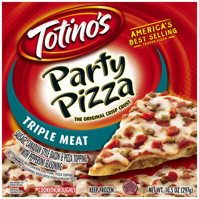 Totino's® Triple Meat Party Pizza® 10.5 oz. Box