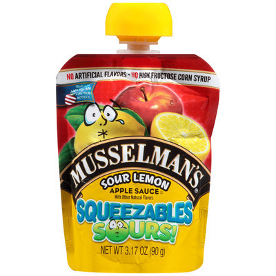 Musselman's® Squeezables Sours! Sour Lemon Apple Sauce 3.17 oz. Pouch