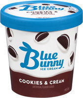 Blue Bunny® Cookies & Cream Ice Cream 1 pt Tub