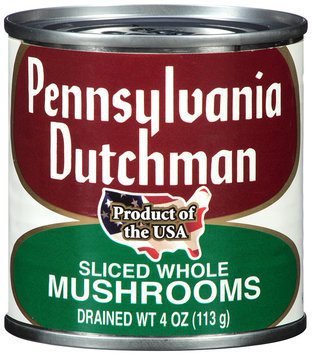 Pennsylvania Dutchman Sliced Whole Mushrooms 4 oz. Can