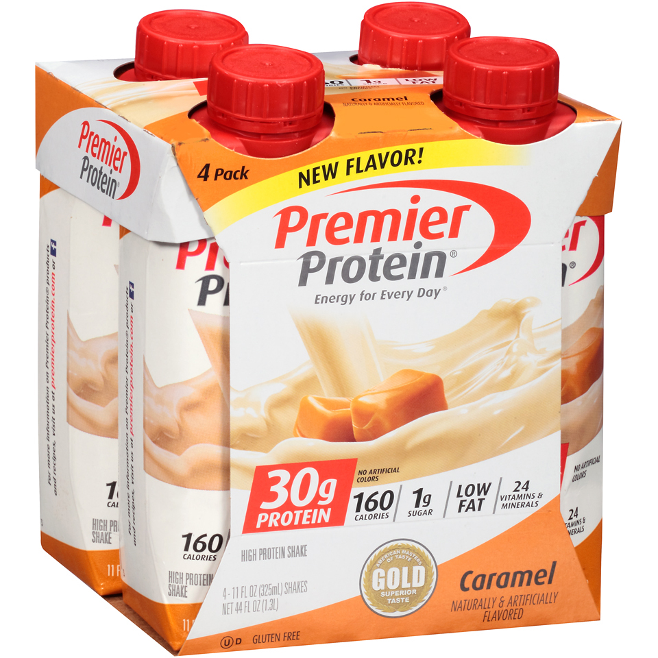 Premier Protein® Caramel High Protein Shake 4-11 fl. oz. Aseptic Cartons