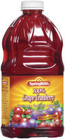 Springfield 100% Grape Cranberry Juice 64 Fl Oz Plastic Bottle
