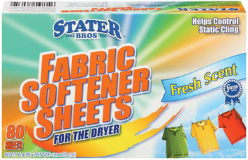 Stater Bros. Fresh Scent 6.4 In X 9 In Fabric Softener Sheets 80 Ct Box