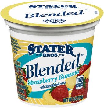 Stater Bros.® Blended Strawberry Banana Lowfat Yogurt 6 oz. Cup