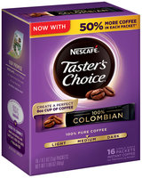 NESCAFE TASTER'S CHOICE 100% Colombian Instant Coffee 16-0.1 oz. Single Serve Packets