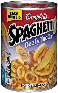 Campbell's® SpaghettiOs® Beefy TacOs™ 14 oz. Can