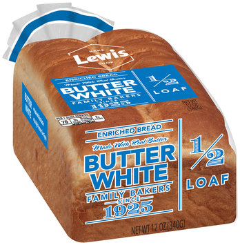Lewis® Butter White Enriched Bread 12 oz. Bag