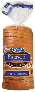 Stater Bros. French Sliced Premium Old Fashioned Bread 16 Oz Bag