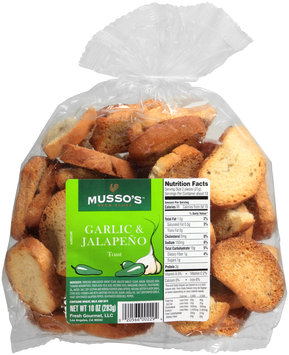 Musso's™ Oven Baked Garlic & Jalapeno Toast 10 oz. Bag