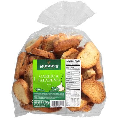 Musso's™ Oven Baked Garlic & Jalapeno Toast 10 oz. Bag