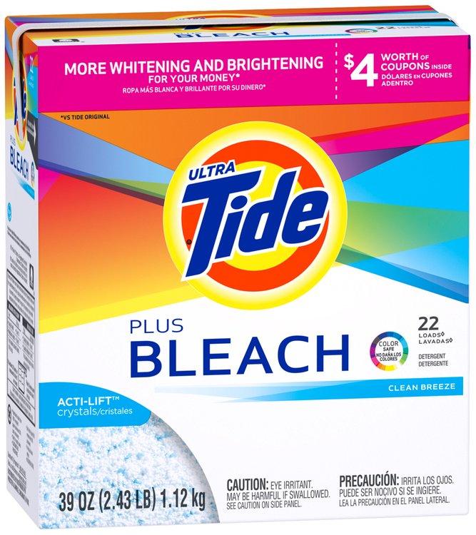 Tide Ultra Vivid White Plus Bright™ Plus Bleach Clean Breeze Scent Powder Laundry Detergent 39 oz. Box