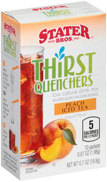 Stater Bros.® Thirst Quenchers™ Low Calorie Peach Iced Tea Drink Mix 10-0.07 oz. Packets