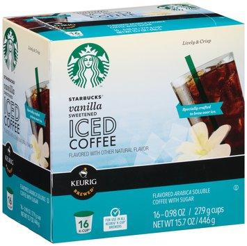 Starbucks® Sweetened Vanilla Iced Coffee K-Cup® 16 ct Box