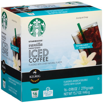 Starbucks® Sweetened Vanilla Iced Coffee K-Cup® 16 ct Box
