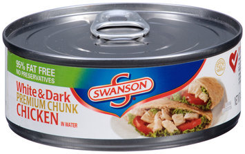 Swanson® Premium Chunk White & Dark Chicken in Water 4.5 oz. Can