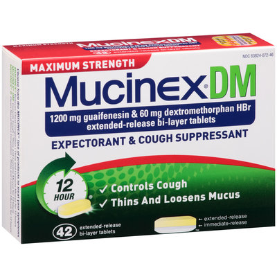Mucinex® DM Maximum Strength Extended-Release Bi-Layer Expectorant/Cough Suppressant Tablets 42 ct Box