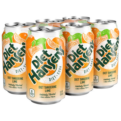 Diet Hansen's® Premium Diet Tangerine Lime Soda 6-12 fl. oz. Cans