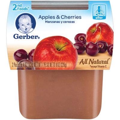Gerber 2nd Foods Apples & Cherries 8 Oz Sleeve