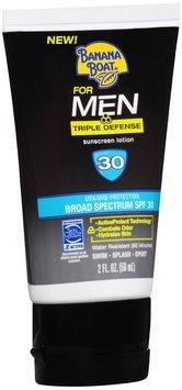 Banana Boat® for Men Triple Defense Broad Spectrum SPF 30 Sunscreen Lotion 2 fl. oz. Tube