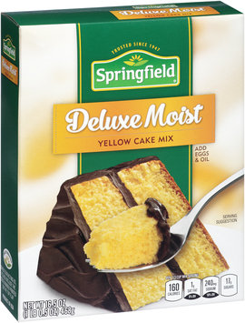 Springfield® Deluxe Moist Yellow Cake Mix 16.5 oz. Box