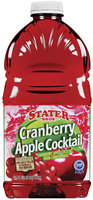 Stater Bros. Cranberry Apple Cocktail Juice 64 Oz Plastic Bottle