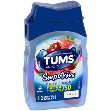 Tums® Smoothies™ Extra Strength 750 Antacid Berry Fusion Chewable Tablets 12 ct Bottle