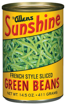 The Allens Sunshine French Style Sliced Green Beans 14.5 Oz Can