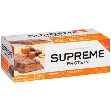 Supreme Protein® Caramel Nut Chocolate High Protein Bars 6 ct