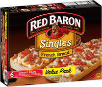Red Baron® Singles French Bread 3 Meat Pizzas 6 ct Box
