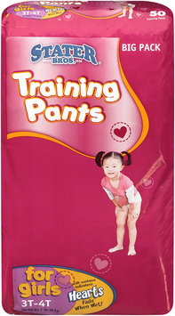 Stater Bros.® Training Pants for Girls 3T-4T 32-40 lbs. 50 ct Bag