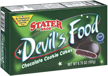 Stater Bros. Devil's Food Chocolate Cookie Cakes 6.75 Oz Box